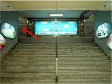 名古屋iPhone補修のクイックアクセス3:名駅地下街左側の階段