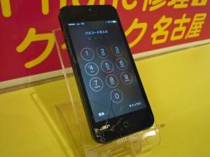 iPhone 5 ガラス交換完了~ ※割れ防止に強化フィルムも人気です!