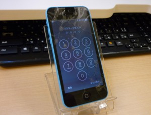 iPhone 5C ガラス交換完了しました クイック修理 名古屋