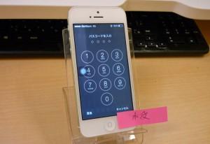 新幹線にて水没したiPhone 5 整備・点検・終了しました