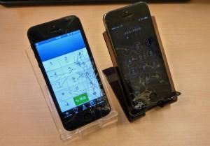 紹介割引、友割のiPhone 5 2台ともお値打ちにガラス交換修理しました~♪アイフォン修理のクイック名古屋
