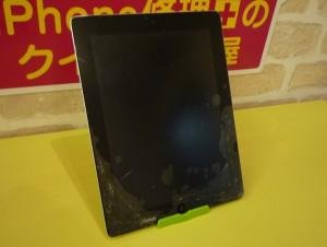 バキッとヒビ割れたiPad 2 ガラス交換しました~♪アイパッド修理のクイック名古屋