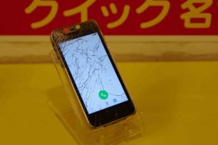iPhone5Sのガラスが割れて液晶も痛んできたので北名古屋市より修理に御来店~♪アイフォン修理のクイック名古屋