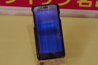 iPhone6のガラスが割れて液晶も割れたので志摩市より修理にご来店~♪アイフォン修理のクイック名古屋