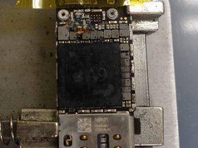 新婚旅行先のモルディブの海で水没 iPhone6S データ復旧 水没基板修理 アイフォン修理のクイック名古屋