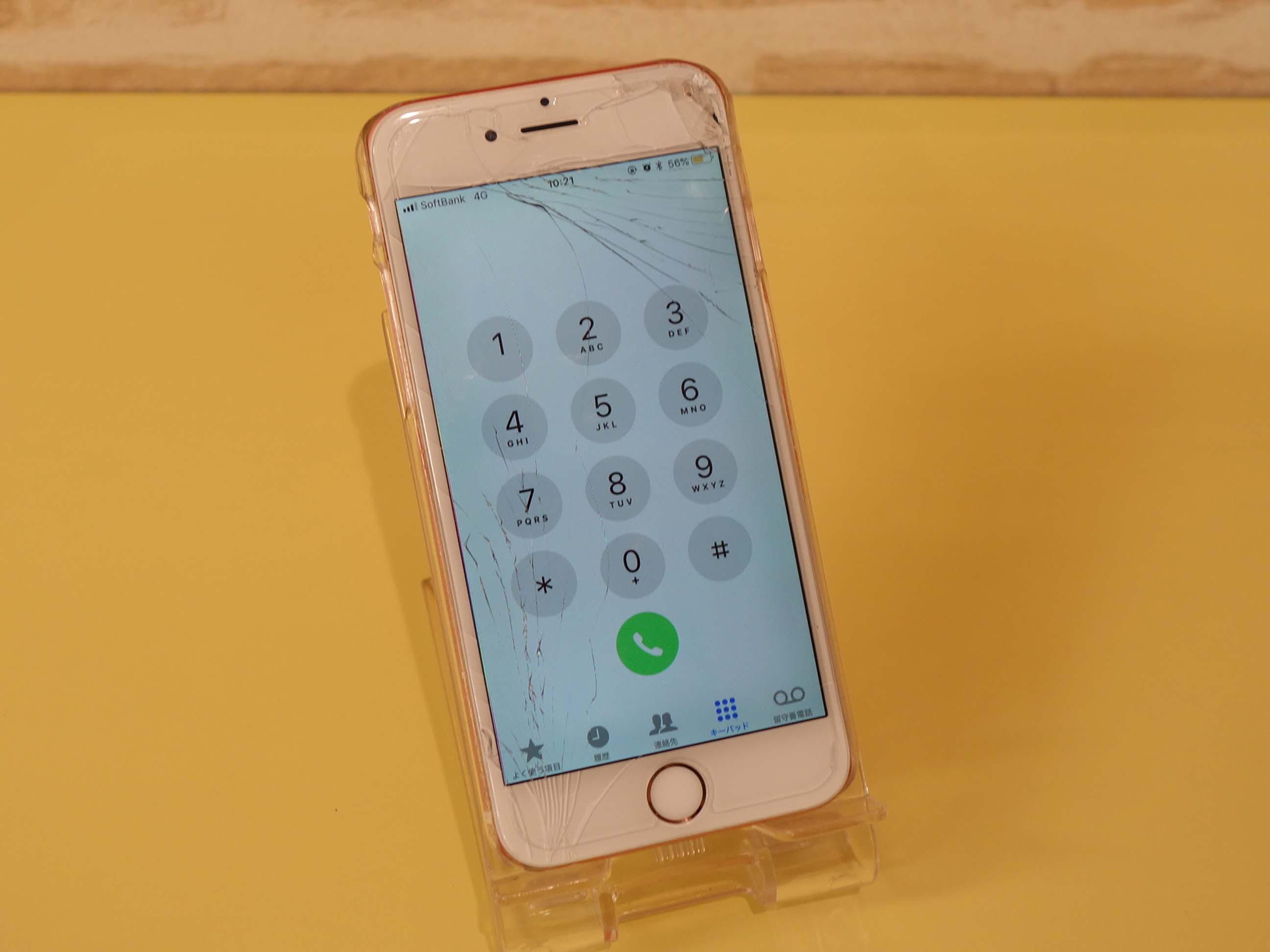 iPhone6Sのガラス&バッテリー交換修理に名古屋市内よりご来店!アイフォン修理のクイック名古屋