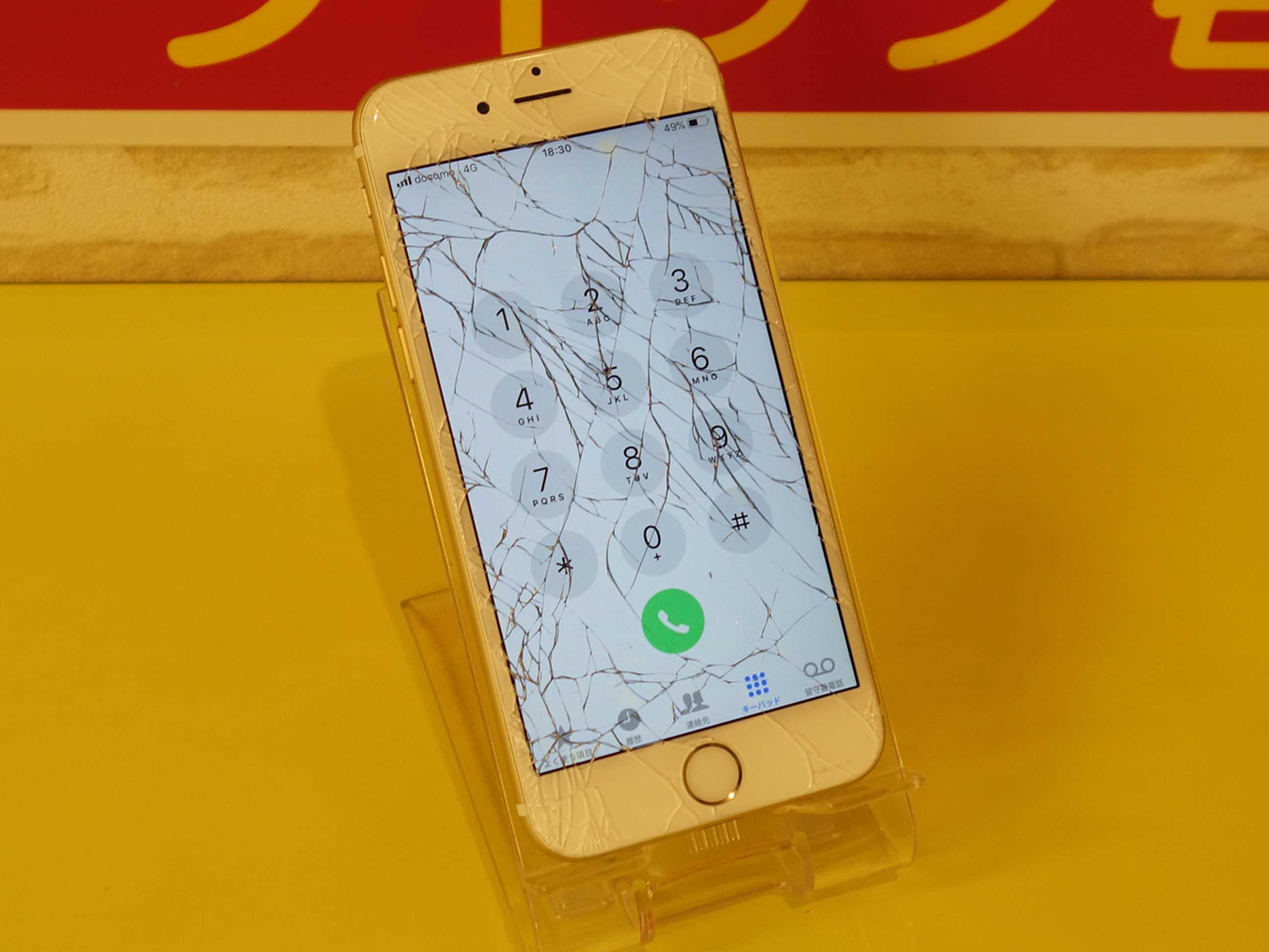 iPhone6のガラス交換修理に蟹江町よりご来店!アイフォン修理のクイック名古屋