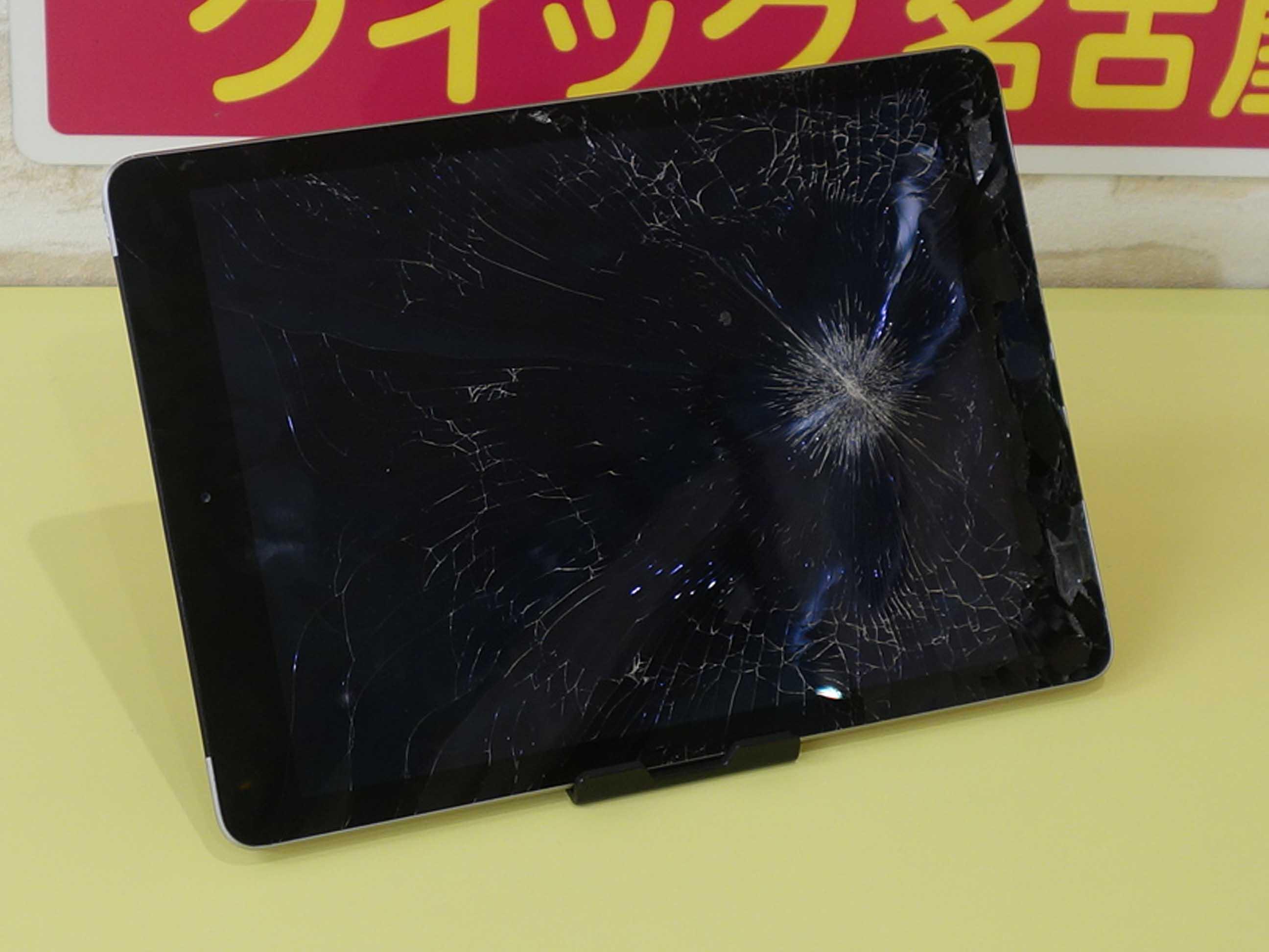 iPad5のガラス割れ修理に長久手市よりご来店!アイパッド修理のクイック名古屋