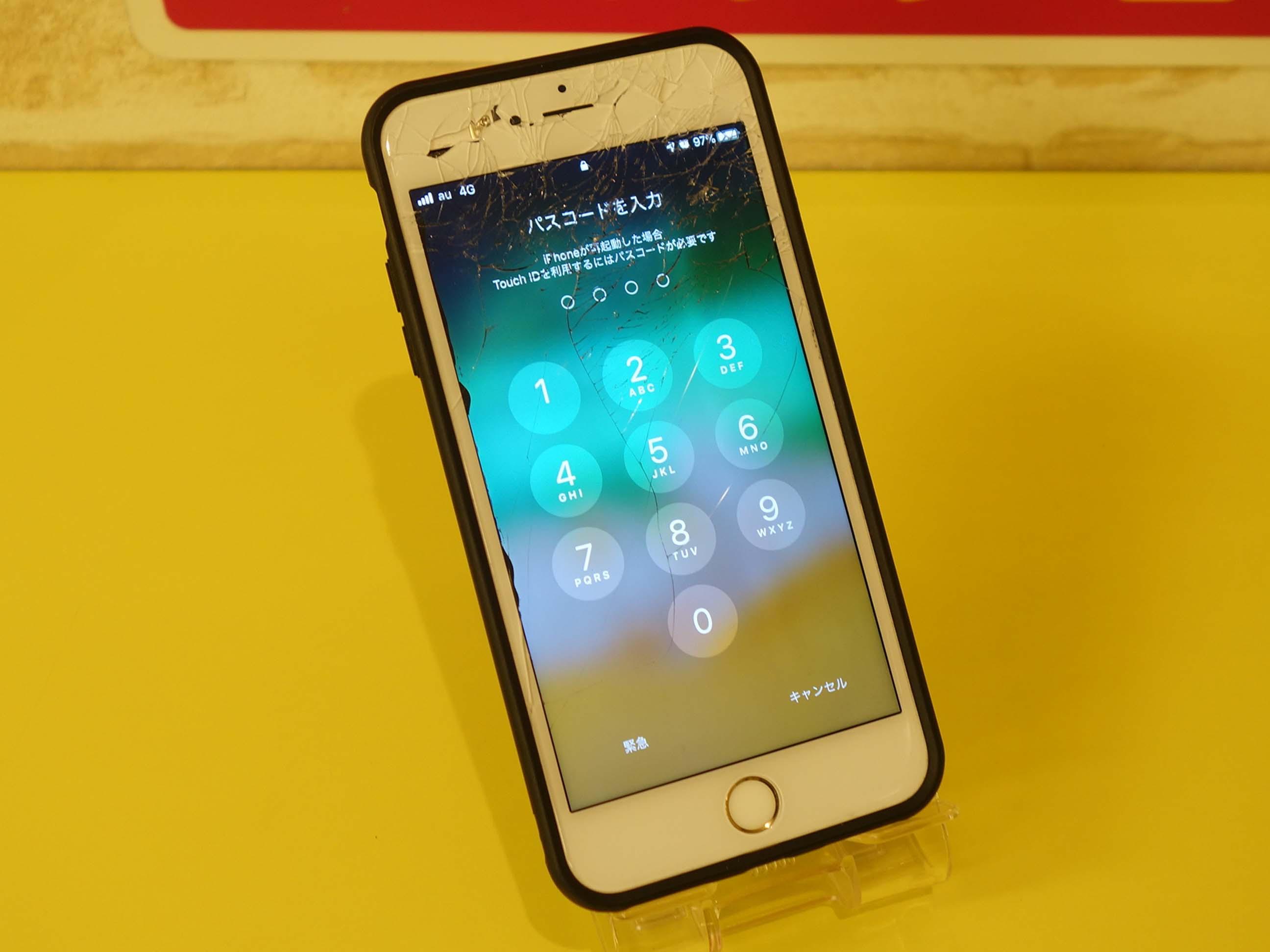 常滑市 iPhone 6SPlus ガラス割れて操作できない アイフォン修理のクイック名古屋