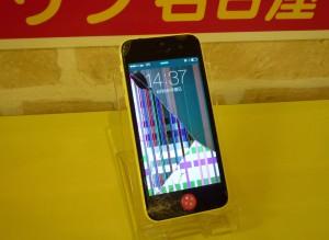 液晶も割れたiPhone 5C 修理完了しました~♪アイフォン修理のクイック名古屋