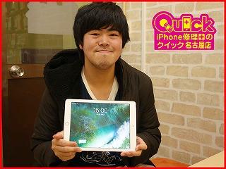 ☆画面がうつらないiPad Air2の液晶交換修理に四日市市よりご来店!アイフォン修理のクイック名古屋