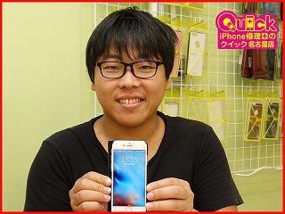 ☆起動不良のiPhone6Sのバッテリー交換修理に長久手市よりご来店!アイフォン修理のクイック名古屋
