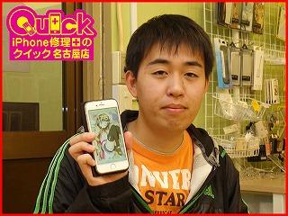 ☆iPhone7のガラスとバッテリー交換修理で田原市からご来店!アイフォン修理のクイック名古屋