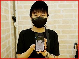 ☆iPhoneXの液晶交換修理に日進市よりご来店!アイフォン修理のクイック名古屋