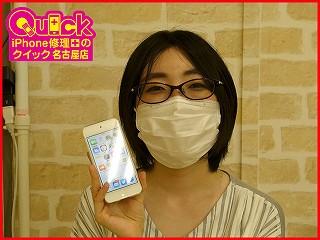 ☆iPod Touch6のバッテリー交換修理に東浦町からご来店!アイポッド修理のクイック名古屋