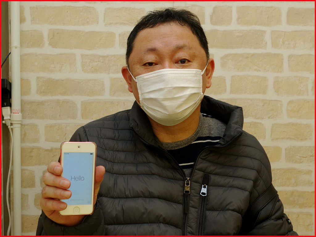 ☆iPodtouch5のバッテリー交換修理に名古屋市内よりご来店!アイポッド修理もクイック名古屋