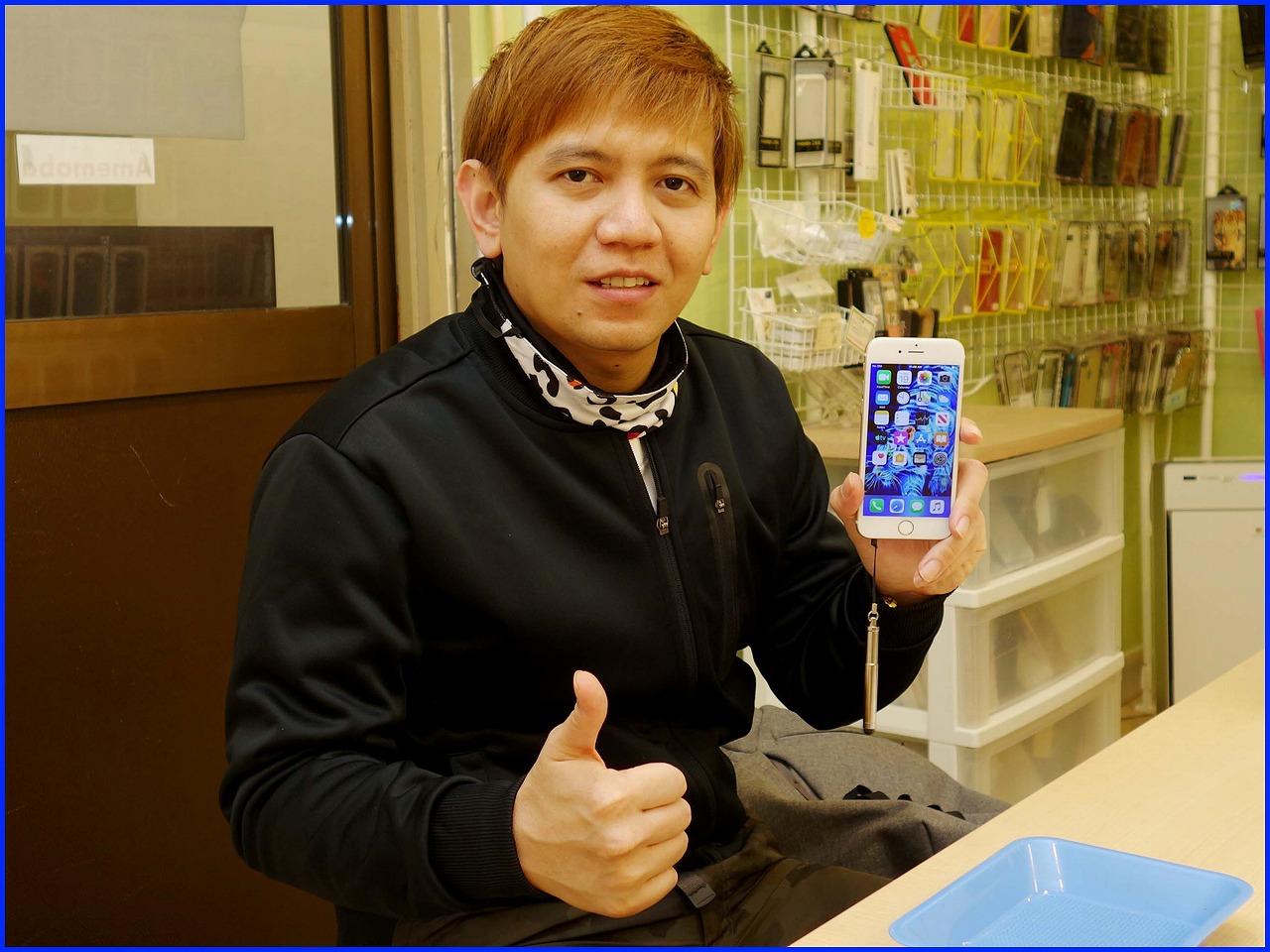 ☆iPhone6のガラス&バッテリー交換修理に西尾市よりご来店!アイフォン修理のクイック名古屋