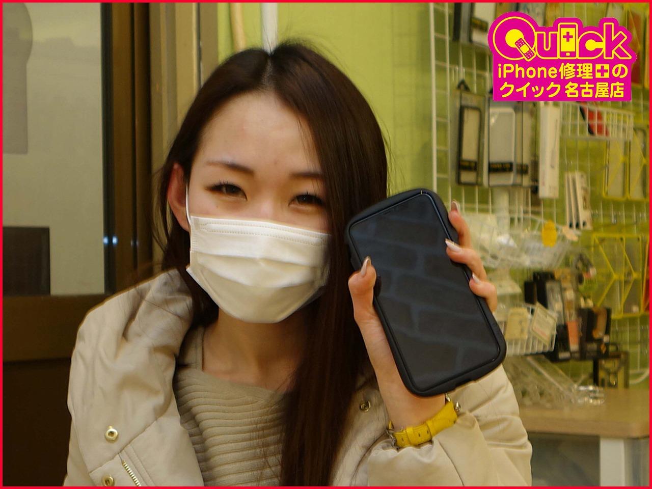 ☆鈴鹿市よりiPhone XsMaxの画面割れ修理にご来店~♪アイフォン修理のクイック名古屋