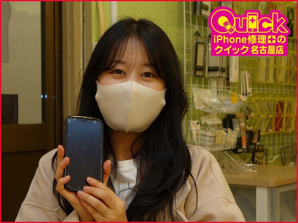 ☆iPhoneXSのカメラレンズ&バッテリー交換修理に名古屋市内よりご来店!アイフォン修理のクイック名古屋